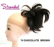 HAIR PIECE STYLED CLAMP EXTENSION CLIP IN CLAW INSTANT UPDO CHOCOLATE BROWN *6