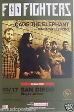Foo Fighters / Cage The Elephant 2011 Concert Tour Poster - Dave Grohl, Nirvana