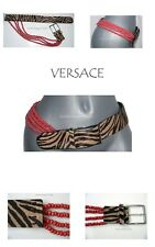 Vintage GIANNI VERSACE Pre-death 32 calf hair beaded belt draped tiered new
