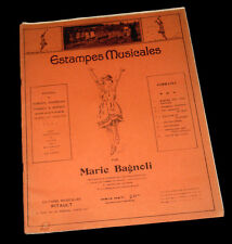 estampes musicales recueil rondes chansons danses enfantines 1922 Marie Bagnoli