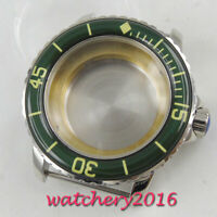 45mm 316L steel sapphire glass automatic Watch Case fit ETA 2824 2836 MOVEMENT