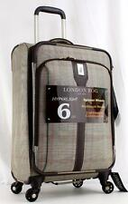 "LONDON FOG KNIGHTSBRIDGE 21"" EXPANDABLE SPINNER CARRY ON SUITCASE BROWN"