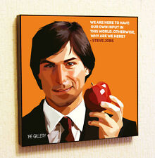 Steve Jobs #2 Aplle Quotes Apple Painting Decor Print Wall Art Poster Pop Canvas