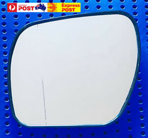 Left side mirror glass for MITSUBISHI PAJERO NS-NX 11/06-2019 Convex Heated base