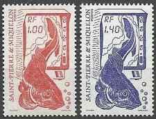 Timbres Poissons St Pierre et Miquelon 472/3 ** lot 18634