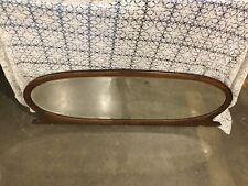 Antique Oak Oval Buffet Mirror