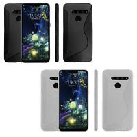 NS Line Wave Tough Shockproof Phone Case Gel Cover Skin LG V50 ThinQ 5G