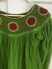 146. Kiwi Embroidered Vintage Ethnic Tunic Embroidered Flawless Sm/ Med