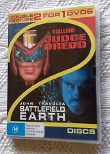 Judge Dredd /Battlefield Earth: Stallone/Travolta (DVD,2-Disc) R-4, FREE POST