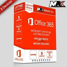 Microsoft Office 365 Lifetime Account ✔️ 5 Devices ✔️ for Win & Mac & Tablets
