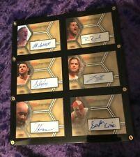 2008 TNA Wrestling -TNAutographs - SET OF 6 Autograph Cards- in protector +bonus