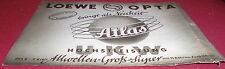 dachbodenfund prospekt loewe opta atlas gr sup. radio werbung reklame 1950er alt