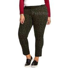 05c5e93634f Womens Ava Viv Plus Size Leopard Print Ankle Pants NWOT A3