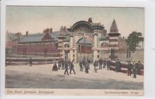 1904 POSTCARD THE NAVAL BARRACKS, PORTSMOUTH to 24 ST JAMES STREET, DOVER, KENT