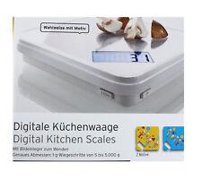 TCM Tchibo Digitale Küchenwaage Waage mit Bildeinleger zum Wenden