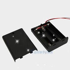Lot 5 pcs New 3 AA 2A Battery 4.5V Holder Box Case with ON/OFF Switch Black