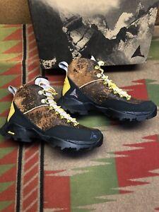 New Men's ROA Andreas Var.002 Hiking Boots Sheepskin Brown Size 9 EU 42 Pink