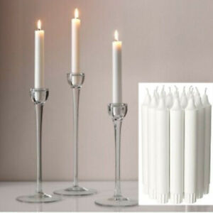 IKEA JUBLA WHITE CANDLES 19 CM CHRISTMAS PARTY NON DRIP CHANDELIER STICK DINNER