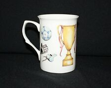 A FINE BONE CHINA FOOTBALL MUG CUP BEAKER XMAS NEW MICROWAVE+ DISHWASHER PROOF