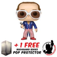 FUNKO POP ELTON JOHN RED WHITE AND BLUE VINYL FIGURE + FREE POP PROTECTOR