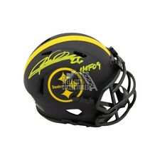 Rod Woodson HOF Autographed Pittsburgh Steelers Eclipse Mini Football Helmet BAS