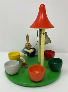 Expertic Veb Holzwaren Gahlenz Easter Wood Rabbit Easter Display W/ 6 Egg Cups