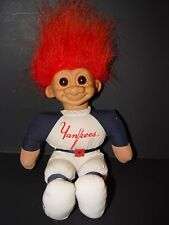 "Troll Doll 9"" Russ Plush Soft Body Baseball New York Yankees"