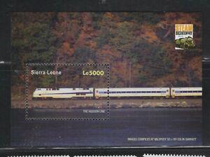 """Sierra Leone  #2784 (2004 Trains """"The Hudson Line""""  sheet) VFMNH CV $4.10"""