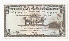New listing Hong Kong 5 dollars 1973 Unc!