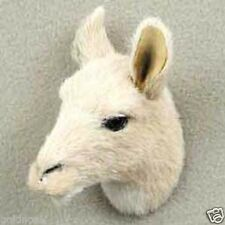 LLAMA HEAD-Fur ANIMAL Magnets (Handcrafted & Hand painted..Collectable)