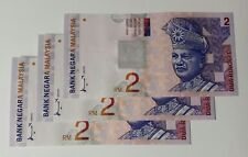 Malaysia Money Currency Banknotes RM2 Ahmad Don 3 pcs RN AP7513794>>796 UNC