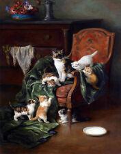 Laur Yvonne Marie Yvonne Cat Family Print 11 x 14  #5234