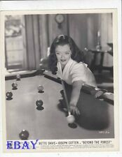Bette Davis plays pool VINTAGE Photo Beyond The Forest