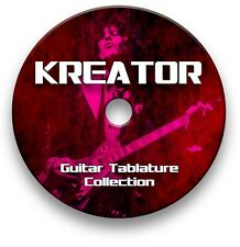 KREATOR HEAVY THRASH METAL ROCK GUITAR TAB TABLATURE SONG BOOK SOFTWARE CD