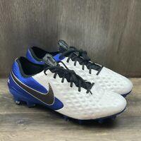 Nike Tiempo Legend 8 Elite Soccer Cleats FG ACC Men Sz 8.5 Blue White AT5293-104