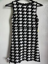 ALICE & OLIVIA SLEEVELESS EVERLEIGH A-LINE DRESS, Black/white, Size 0, MSRP $330
