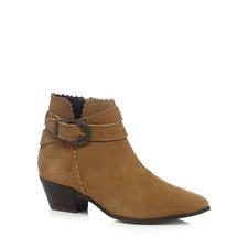 Nine Savannah Miller Tan Suede Mid Block Heel Ankle Boots UK 6 EU 39 LN181 JJ 08