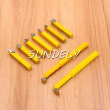9 Pcs Carbide Tip Tipped Cutter Lathe Turning Tool Set 8mm Lathe Tool