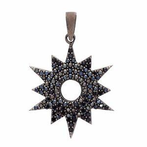 Stylish !! Black Spinel 925 Sterling Silver Pendant Shine Jewelry SHPN0675