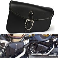 Motorcycle Bike Leather Bag Storage Tool Luggage Bags Saddle Bags For Harley US