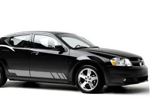 Decals for Dodge Avenger carbon 2005 2006 2007 2008 2009 2010 lip mirror stripe