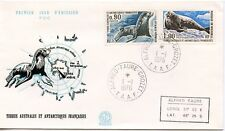 FDC / T.A.A.F. TERRES AUSTRALES TIMBRE  N° 57 ET 58 / FAUNE /