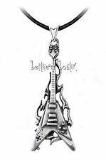 Goth : Alchemy Collier Cordon & Pendentif Guitare Flamme Flaming V Gothique
