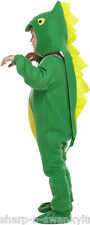 Boys Green Dinosaur Book Day Week Halloween Fancy Dress Costume Outfit 3 years