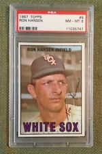 1967 Tops Ron Hansen #9 PSA 8