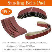 SANDING BELTS LARGE CHOICE OF SIZES 75x533 AND GRITS P40-1000 FOR BELT SANDERS