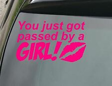 LARGE Passed by a Girl Funny Car/Window JDM VW EURO TRUCK Vinyl Decal Sticker