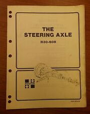 HYSTER THE STEERING AXLE FORKLIFT MANUAL H30-60H, 9032