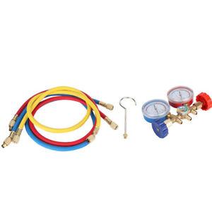 Refrigerant Air Conditioning Tools AC Diagnostic Manifold Gauge Set With Hose