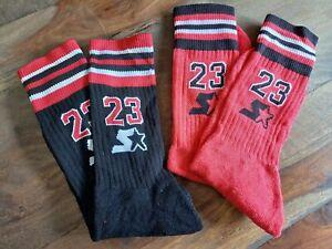 ** NEU - Orig. Starter Jordan 23 Strümpfe Socken - 2 Stk. Farbe: Schwarz Rot **